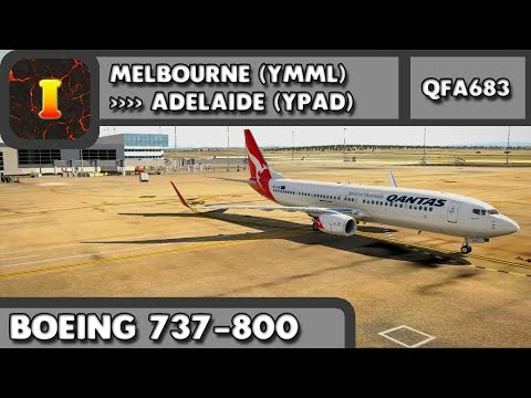 [XP11] [737-800] [SH] | Melbourne (YMML) ✈ YPAD (Adelaide) | QFA683
