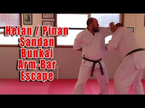 Practical Kata Bunkai: Pinan Sandan Arm Bar Escape