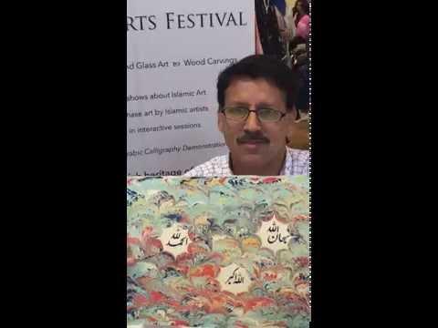 Nastaliq Calligraphy demonstration by IAS artist Zulfiqar Ali