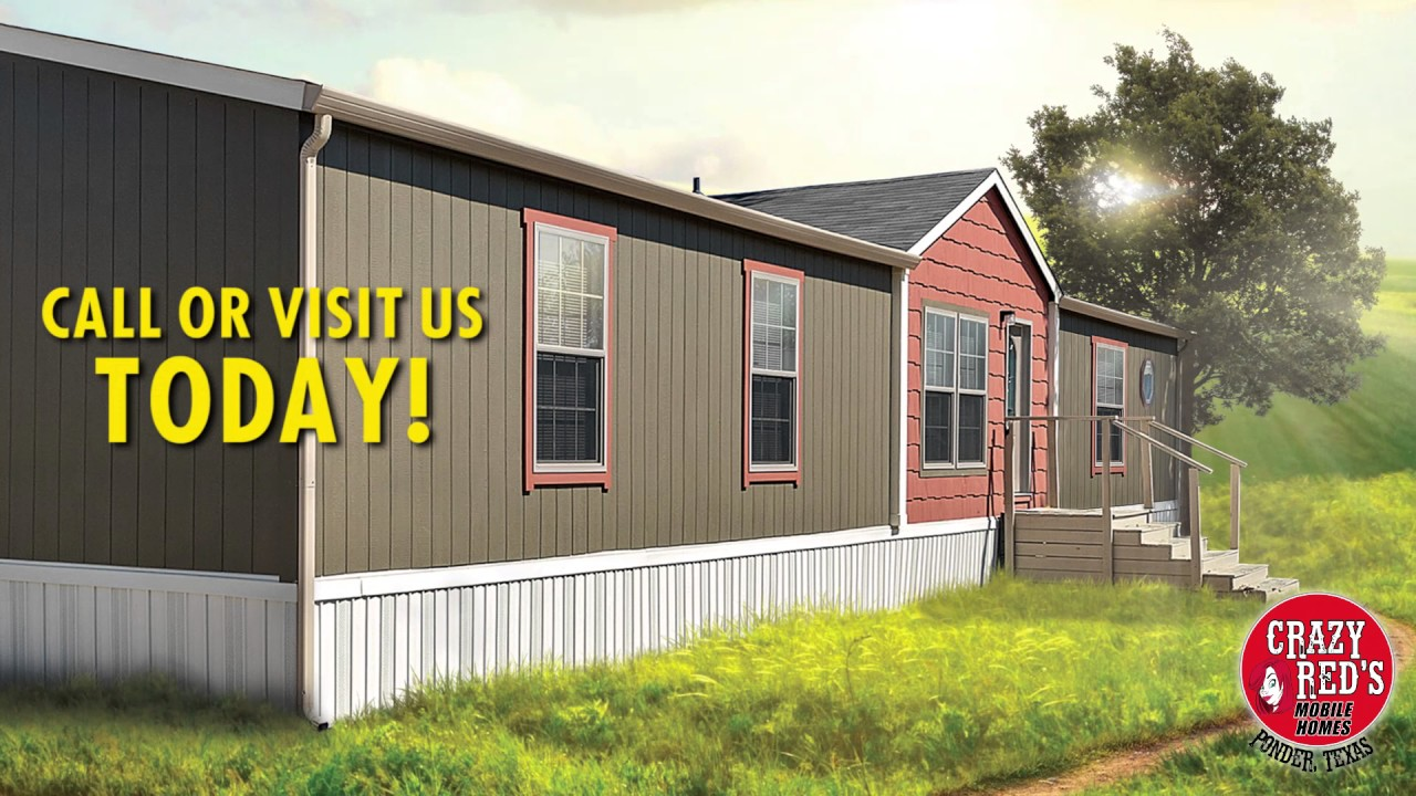 Buy Mobile Home: Crazy Red's Mobile Homes in Ponder, TX ... on red houses, red decks, red siding,