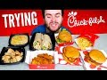 Trying Chick-fil-A! THE WHOLE MENU! - Chicken Fast Food Taste Test
