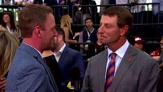 Clemson football coach Dabo Swinney interview on the NFL Draft Red Carpet