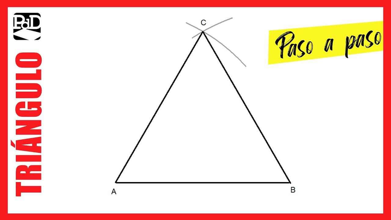 Como Dibujar Un Triangulo Equilatero A Partir Del Lado Poligonos Regulares Por La Medida Del Lado Youtube