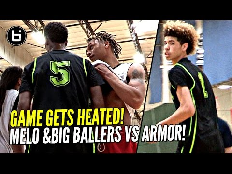 LaMelo Ball Arrives LATE & STILL Flirts w/ Triple Double!! Big Ballers HEATED Game vs Armor Elite!