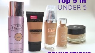 top 5 in under 5 drugstore foundations   bailey b