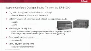 How to Configure Daylight Saving Time on the Avaya ERS4000