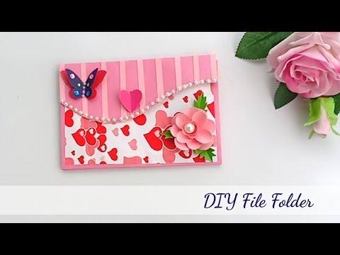 How to make File Folder\\DIY File Folder craft idea