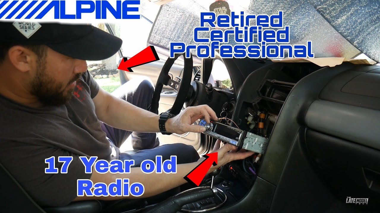 17 Year Old Alpine Radio Install In My Lexus Is300 Factory Amplifier Bypass Gs300 Youtube