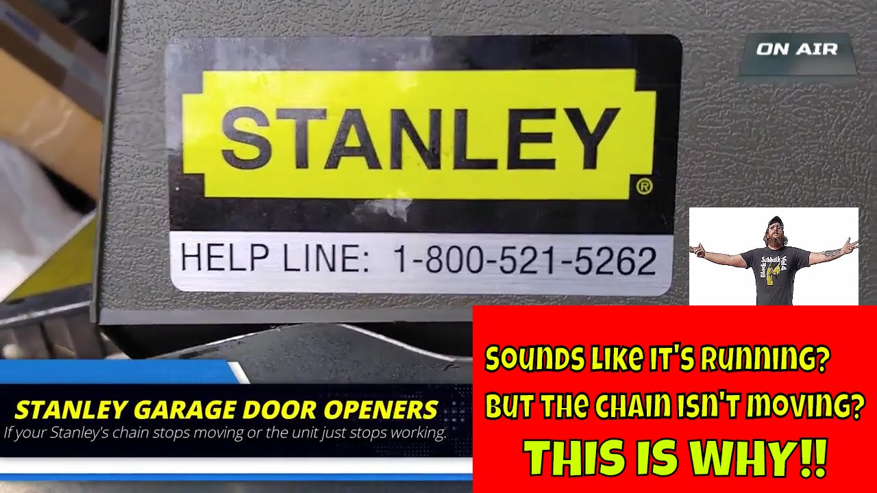 Stanley Garage Door Opener Not Working This Could Be Why Youtube