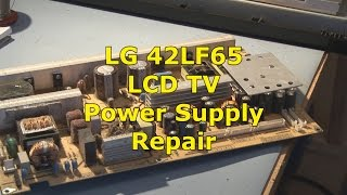 LG 42LF65 Crackling Sound from Speakers | Power Supply Repair