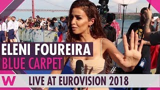 Eleni Foureira (Cyprus) @ Eurovision 2018 Red / Blue Carpet Opening Ceremony