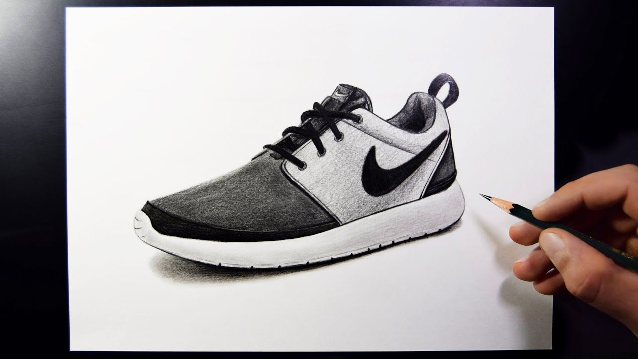 best service fad7d 27363 How To Draw Nike Shoes (Speed Drawing) - YouTube