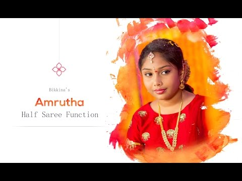 Amrutha half saree function