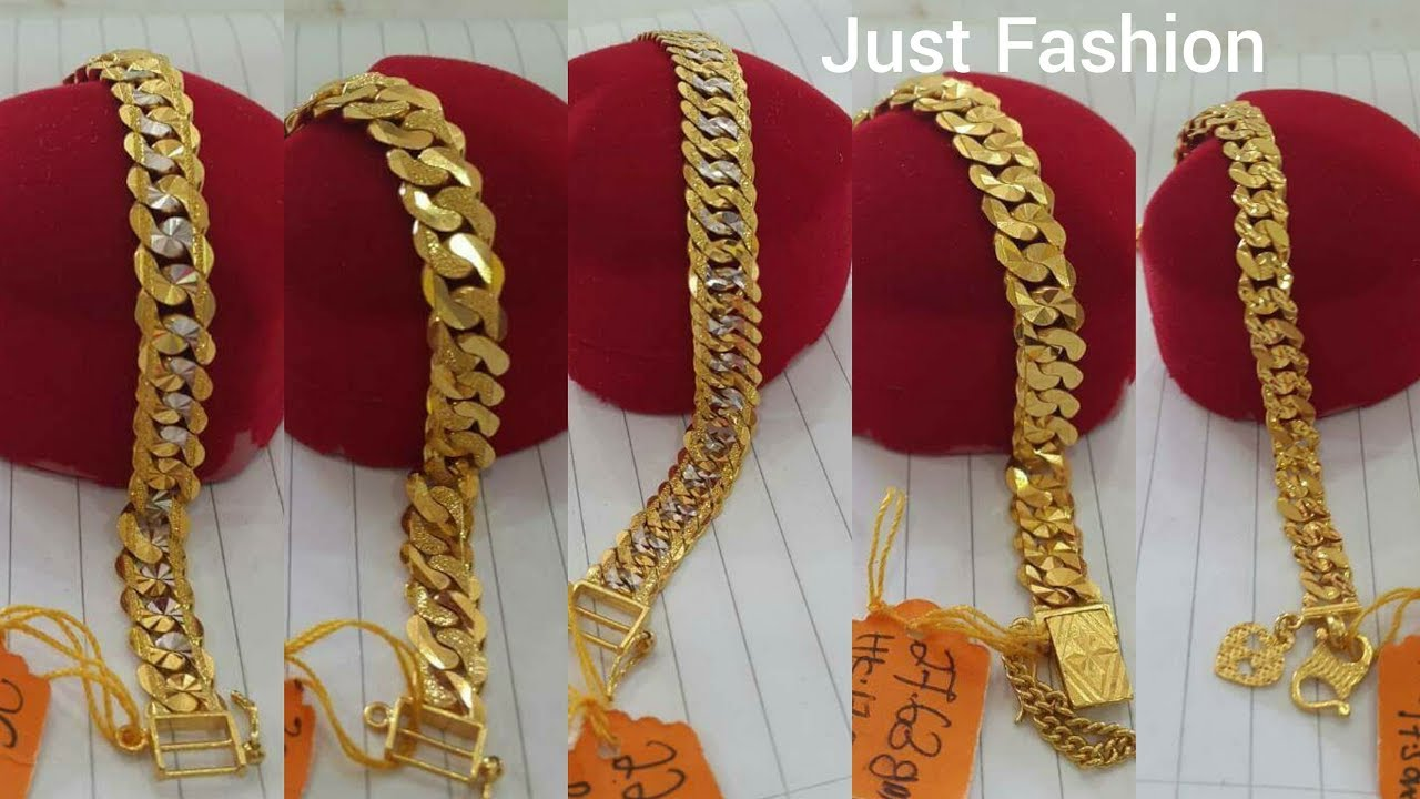 Gold Chain Bracelets Designs With Weight For Men