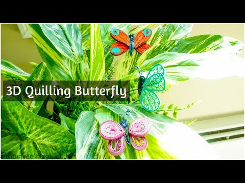 3D Butterfly Quilling Quilled Butterfly Pattern Paper quilling art Tutorial Quilling art designs