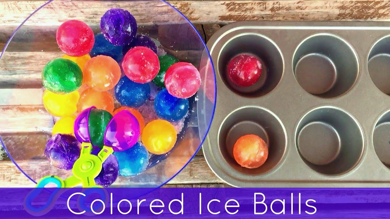 color games kindergarten : Colored Ice Balls Preschool And Kindergarten Sorting And Sensory Activity Youtube