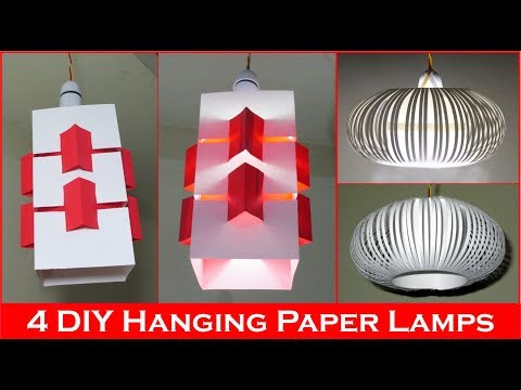 DIY Paper Lamp/Lantern - Room decorating ideas with paper lanterns