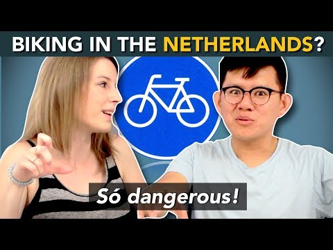 How to BIKE in THE NETHERLANDS? ... These foreigners survived the Dutch bicycle!
