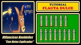 """Arre Borriquito en Flauta """"Con Notas Explicadas"""""""