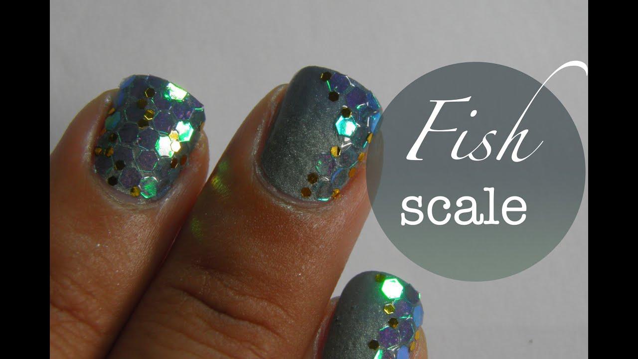 fish scale print nail art tutorial