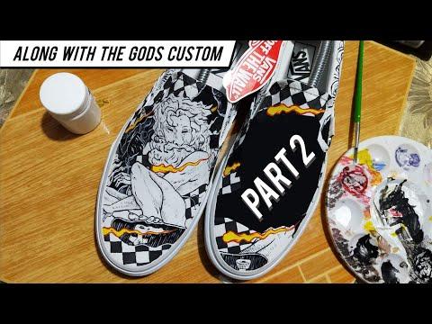 "PART 2 Vans Custom ""Along With The Gods"" By Nikko Pelaez"