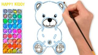 Learn to drawing and coloring cartoons for kids, រៀនគូររូបតុក្កតា និងផាត់ពណ៌សំរាប់កុមារ 4