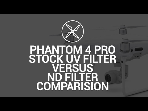 DJI Phantom 4 Pro Stock UV Filter versus ND8/ND16 Comparision Video