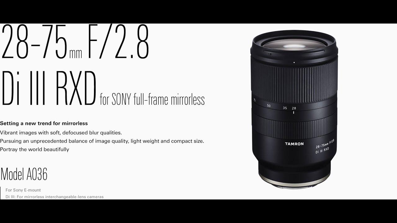 Tamron 28-75mm F/2.8 Di III RXD Photo & Video Test! - YouTube