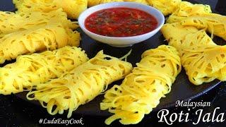 БЛИНЫ РОТИ ДЖАЛА  Малазийские кружевные блины с соусом Net Pancakes ROTI JALA  Bánh pancake lưới
