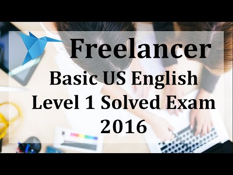Freelancer US English Level 1 Exam 2016 May by Ramandeep Singh