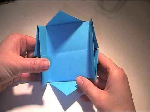 anleitung zum falten einer schachtel aus papier youtube. Black Bedroom Furniture Sets. Home Design Ideas