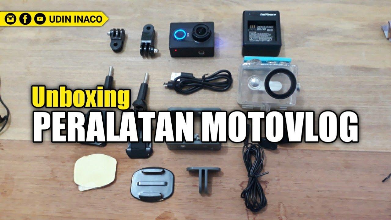 PERALATAN MOTOVLOG MURAH KUALITAS MEWAH | unboxing action