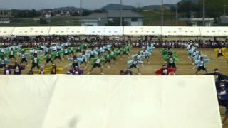 2015年広田小中合同体育会 広中ソーラン