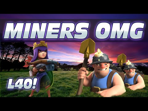 MAXED QUEEN & MINERS DESTROYING STUFF IN FARMING & WAR