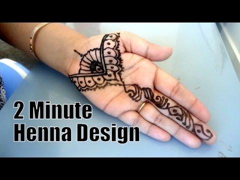 Diy Easiest 2 Minute Henna Mehndi Tattoo Design Hennaandnailart