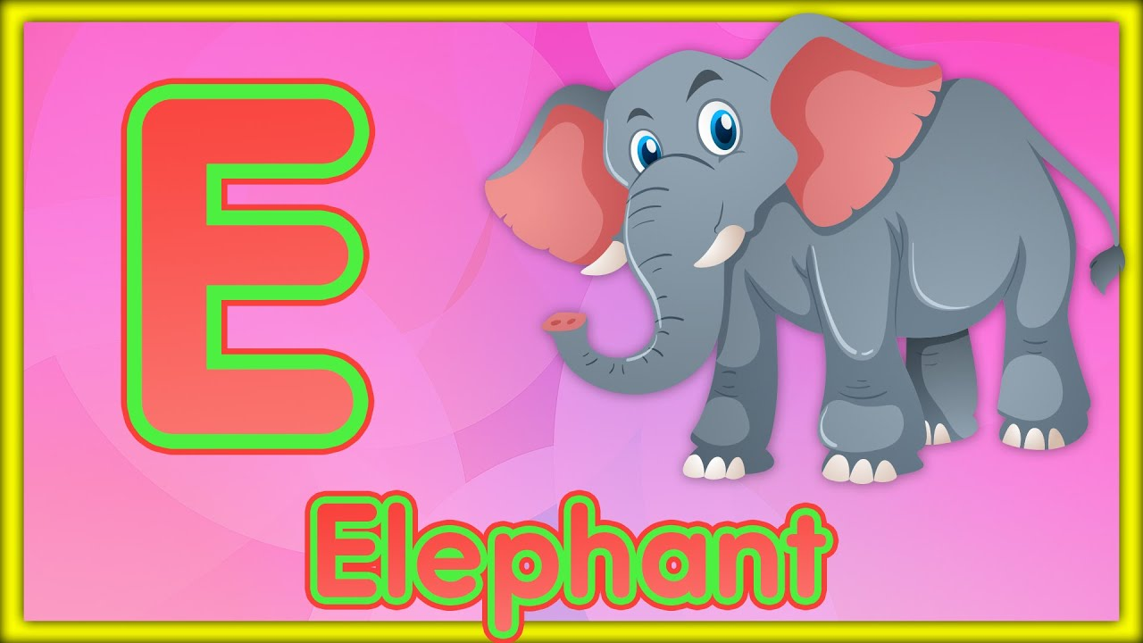 Letter E   Elephant, Egg, Elf & Elbow - Learn the Letter E