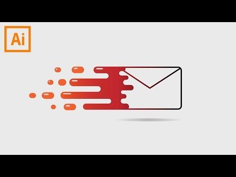 Flaming mail Adobe illustrator design (easy tutorial) thumbnail