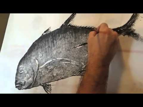 How To Gyotaku Print: Part 2 - Adding Details To Your Print