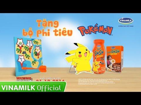 Quảng cáo Vinamilk – Mua Super Susu, tặng bộ phi tiêu Pokemon hấp dẫn