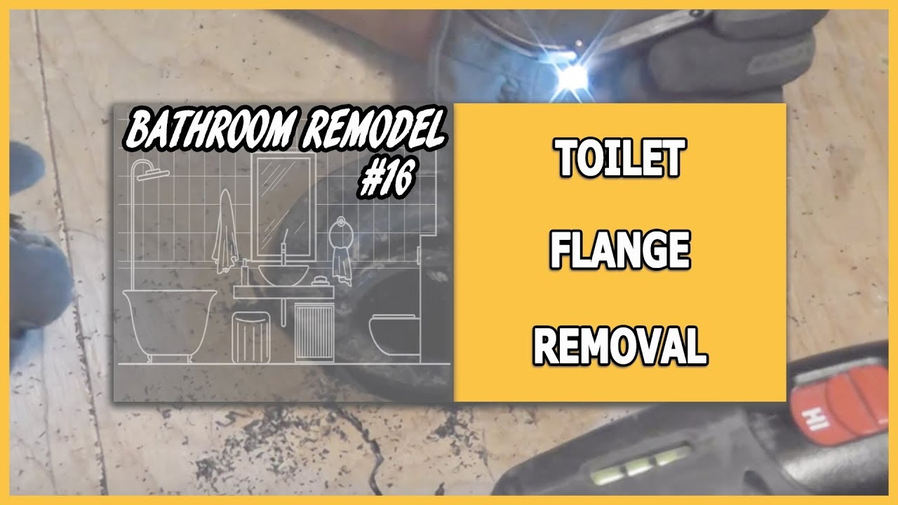 how to clean a toilet flange