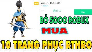 Skip 5555 Robux Buy 10 Rthro Costume | Roblox Shopping