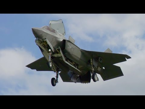 Lockheed Martin F-35B STOVL vertical landing testing