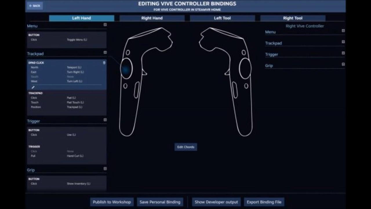 Valve's SteamVR Input enables alternate control schemes in VR
