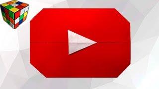 Как сделать КНОПКУ ЮТУБ из бумаги. Кнопка YouTube оригами своими руками