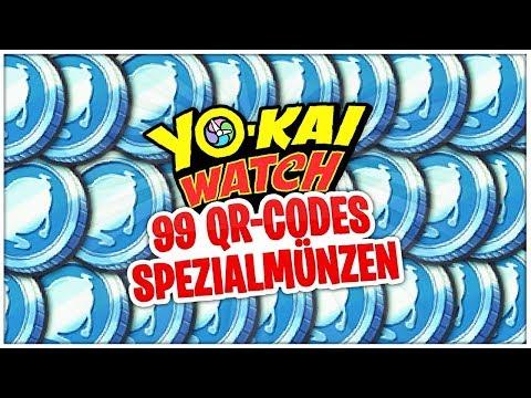99 Spezialmünzen Durch Qr Codes Bekommen Yo Kai Watch Youtube
