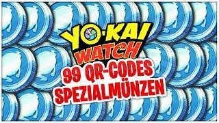99 SPEZIALMÜNZEN durch QRCodes bekommen  YoKai Watch