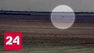 Падение истребителя Hawker Hunter на Гавайях сняли на видео - Россия 24