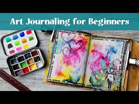 Art Journal with Me - Easy Watercolor Background for Beginners