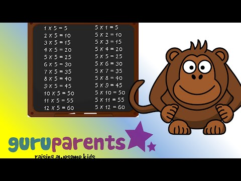 Times tables song 5 slow version multiply by 5 for for 12 times table song youtube