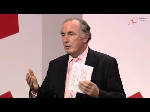 "Matthew Kirk (Vodafone Group) at the ""digitising europe"" summit in Berlin"